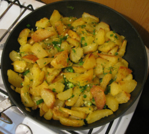 Вариант жарки картофеля на сале