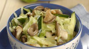 Салат из свежих вешенок