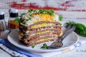 Торт из куриной печени