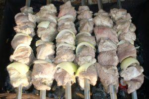 Шашлык из свинины на майонезе