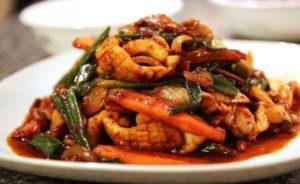 Жареные кальмары китайский рецепт