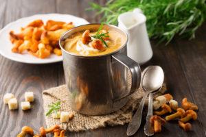Суп-пюре из лисичек